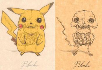 Pikachu Anatomía de los dibujos animados