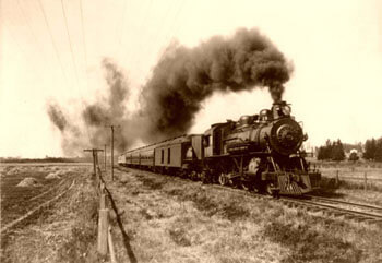 Tren de vapor en 1915