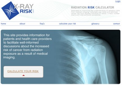 Calculadora de riesgo de radiación