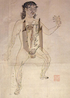 Ilustraciones anatómicas japonesas