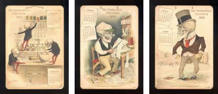Calendario 1900.Calendario De Esqueletos Para Medicos Del Ano 1900