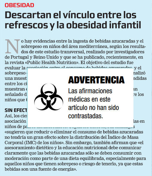 Advertencia periodística
