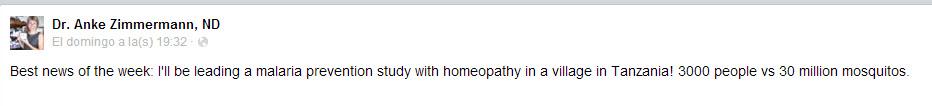 Ensayo homeopatia 3.000 personas con homeopatía frente a 30 millones de mosquitos de la malaria