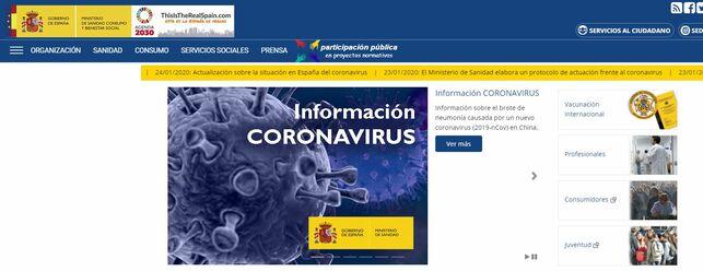 Ministerio Sanidad coronavirus