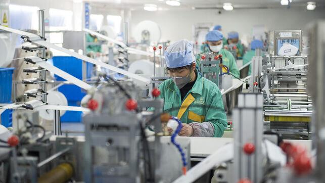 Fábrica de mascarillas