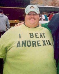Obeso camiseta anorexia